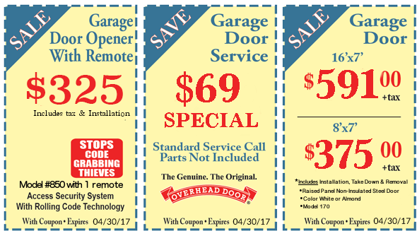 Coupons Overhead Door Company Of South Central Texas